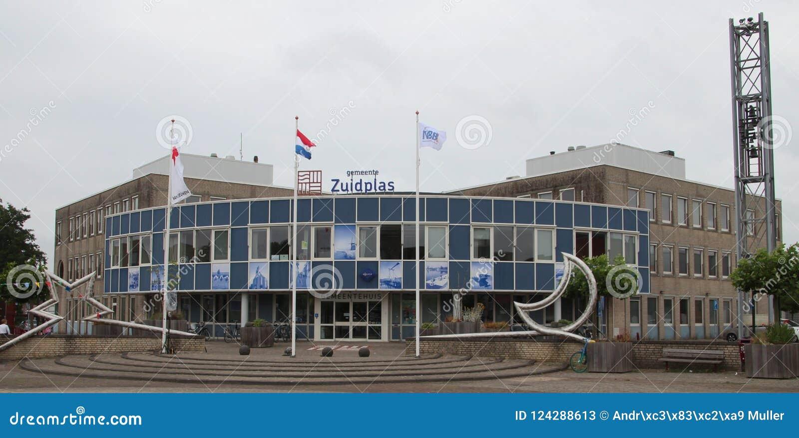Η αίθουσα πόλεων στο κρησφύγετο Ijssel Nieuwerkerk aan για το δήμο Zuidplas στις Κάτω Χώρες που ήταν κατεδαφίζει το 2018