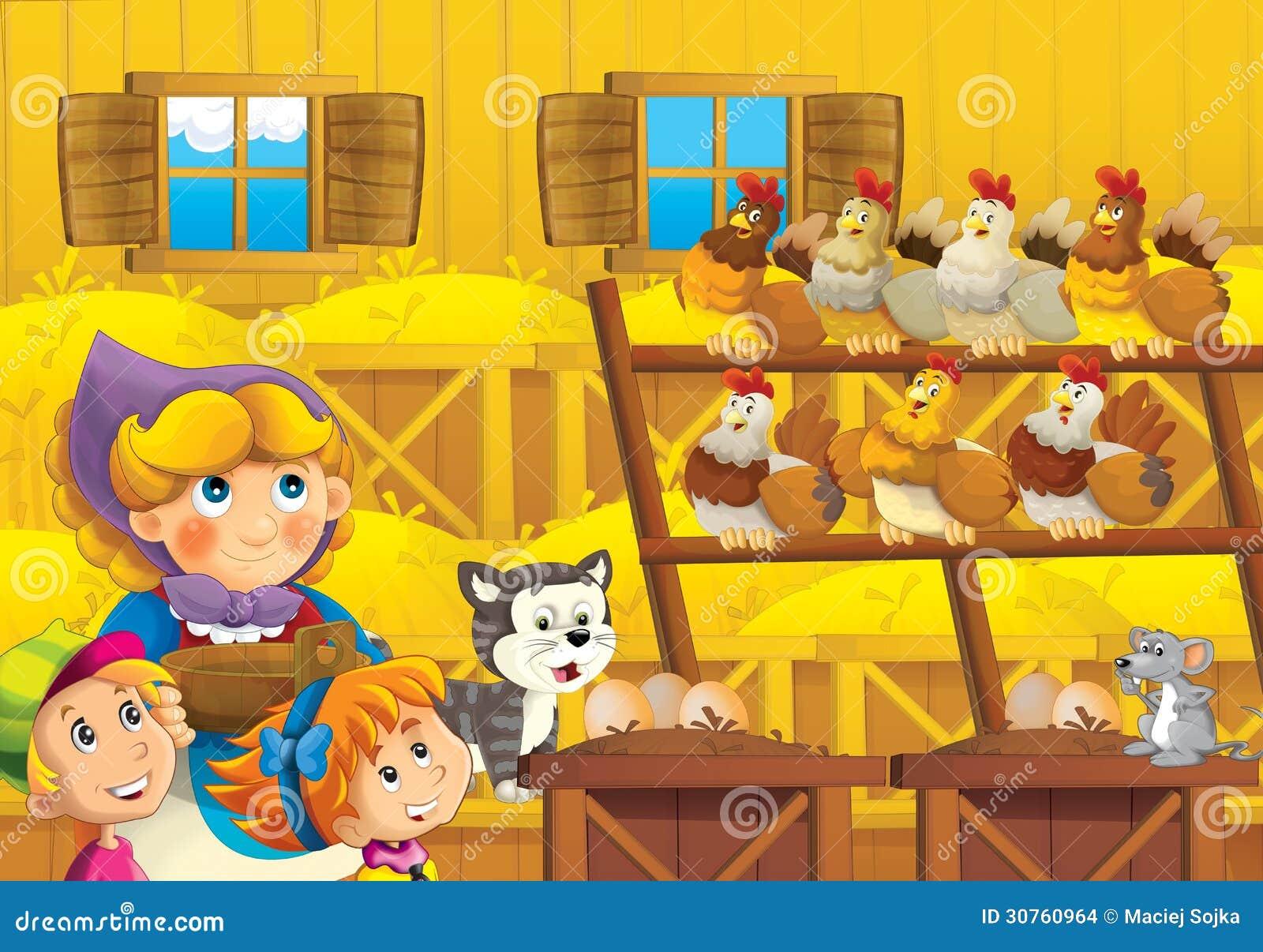 Η αγροτική απεικόνιση για τα παιδιά
