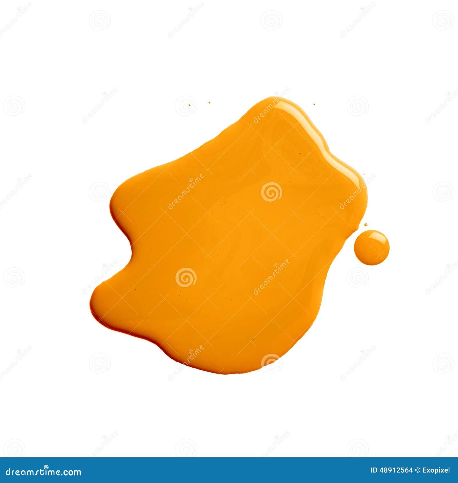Η λακκούβα ενός χυσίματος χρωμάτων