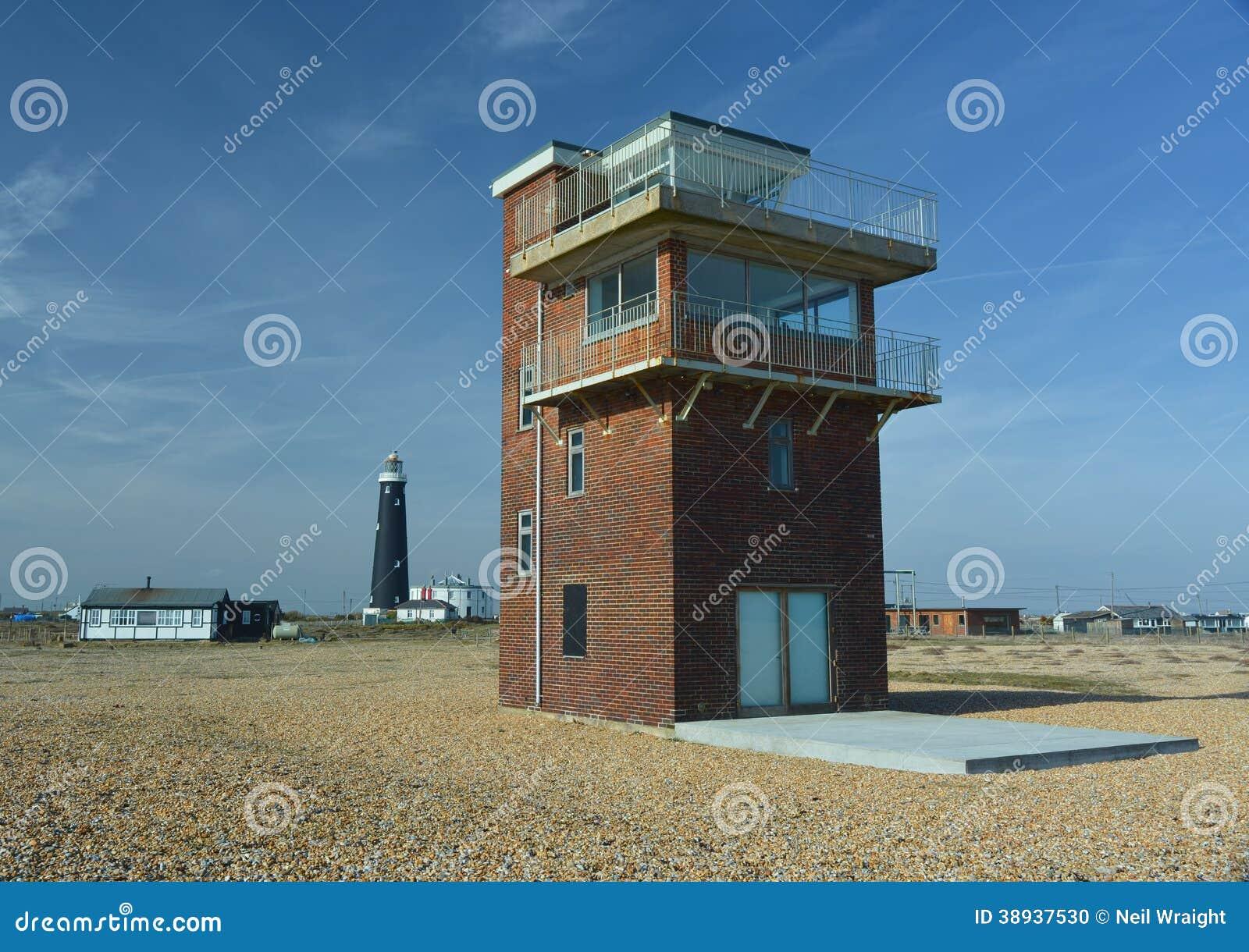 Η ακτοφυλακή φαίνεται έξω πύργος Dungeness UK