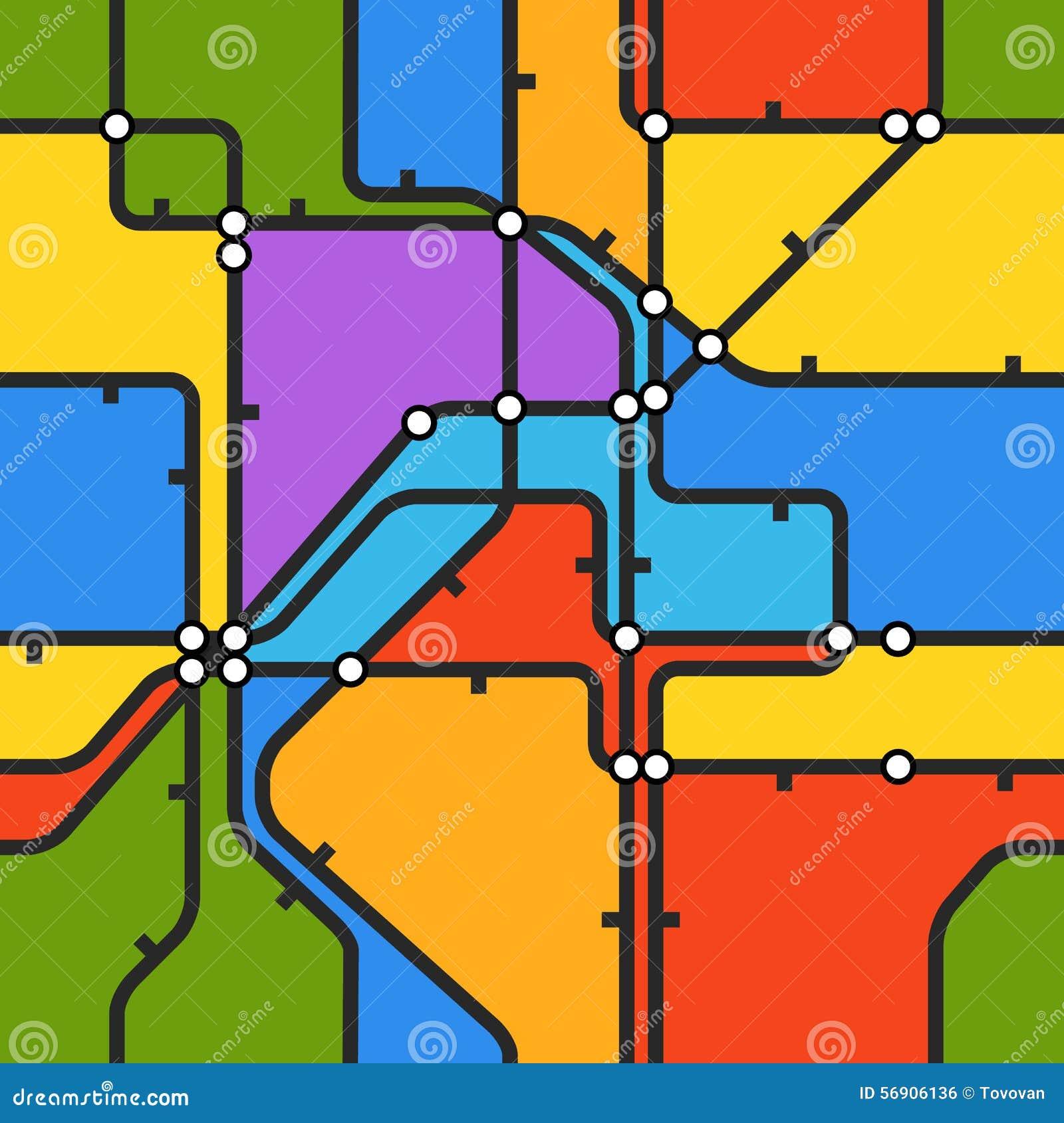 η ανασκόπηση χρωματίζει το σχέδιο τεσσάρων μετρό άνευ ραφής