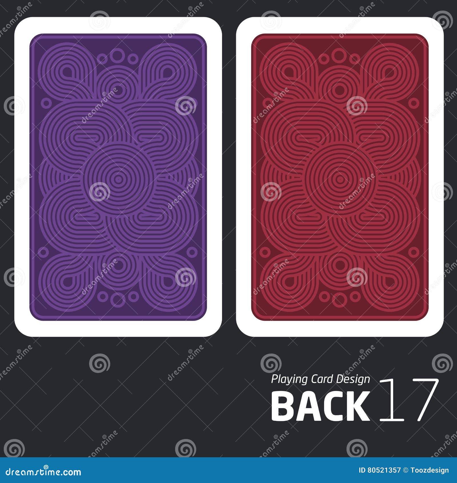 Η αντίστροφη πλευρά μιας κάρτας παιχνιδιού για το blackjack άλλο παιχνίδι με