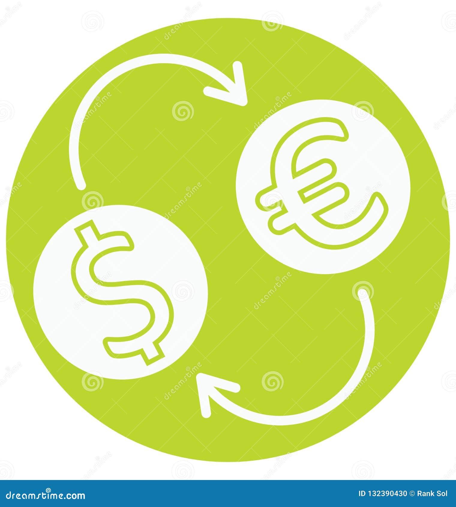 Η ανταλλαγή νομίσματος απομόνωσε το διανυσματικό εικονίδιο που μπορεί να είναι εκδίδει εύκολα ή τροποποίησε