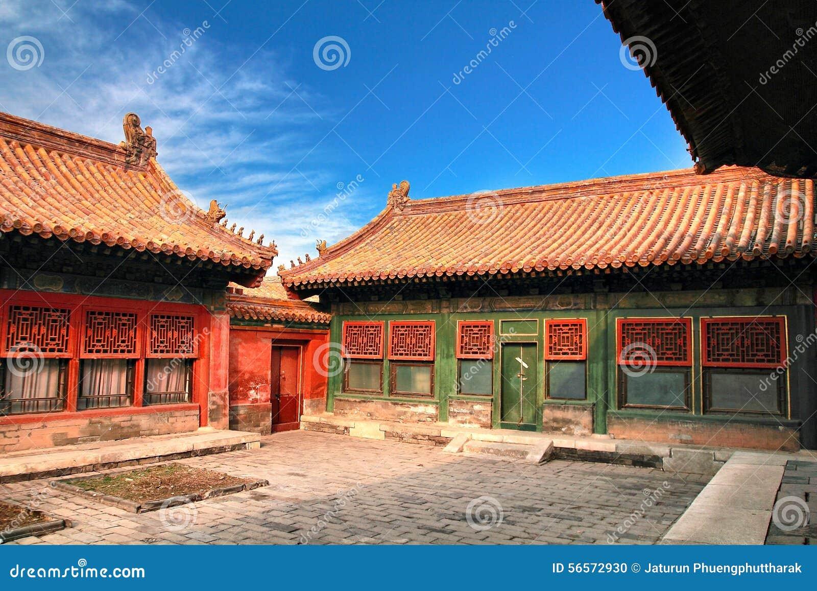 Download Η απαγορευμένη πόλη στο Πεκίνο, Κίνα Στοκ Εικόνες - εικόνα από έλξη, ουρανός: 56572930