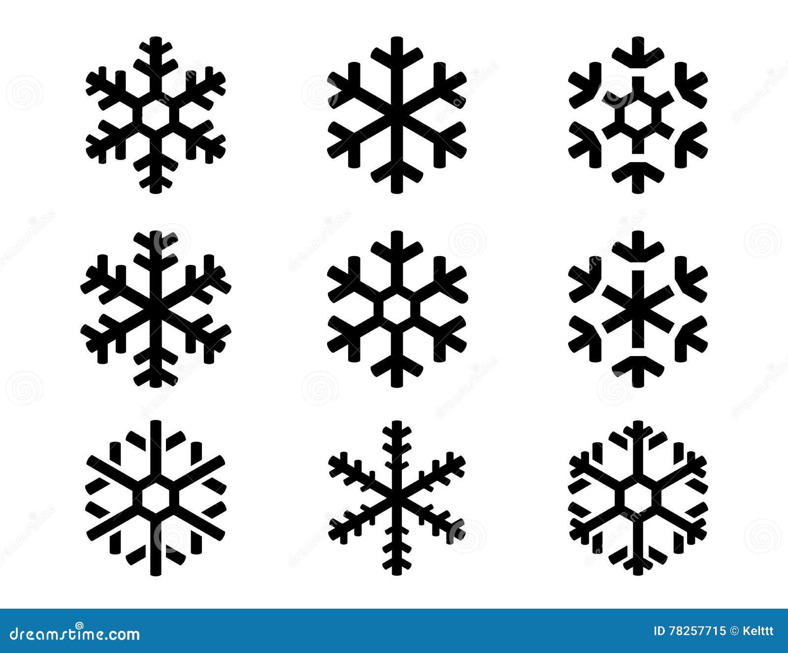 η απεικόνιση εικονιδίων απομόνωσε το καθορισμένο snowflake διανυσματικό λευκό