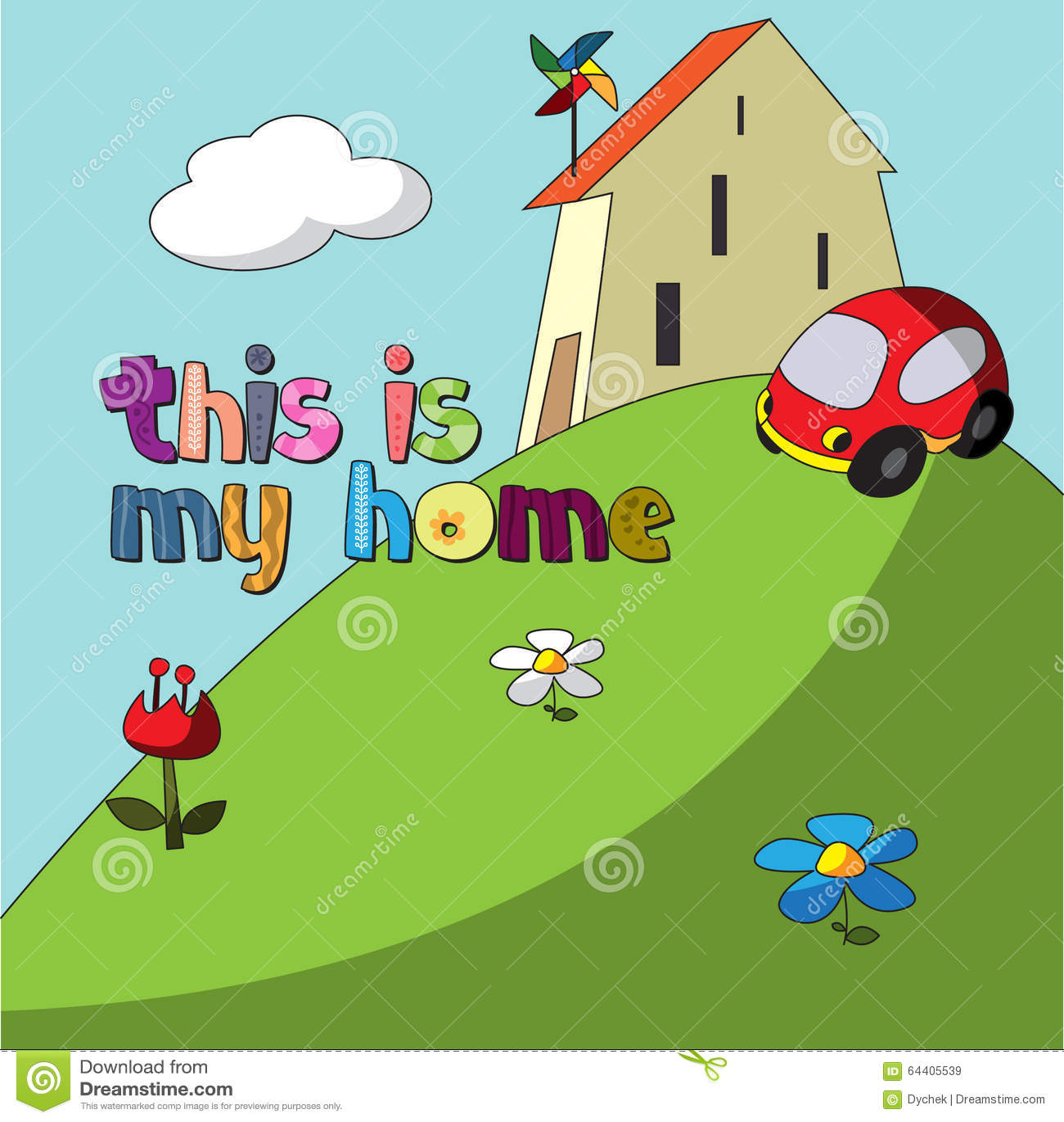 Η αρχική ορθογραφία της λέξης αυτό είναι το σπίτι μου