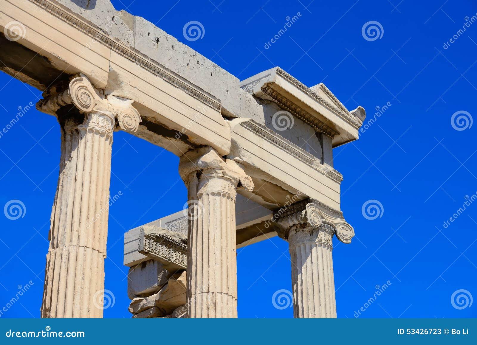 Η γωνία αρχαίου Parthenon