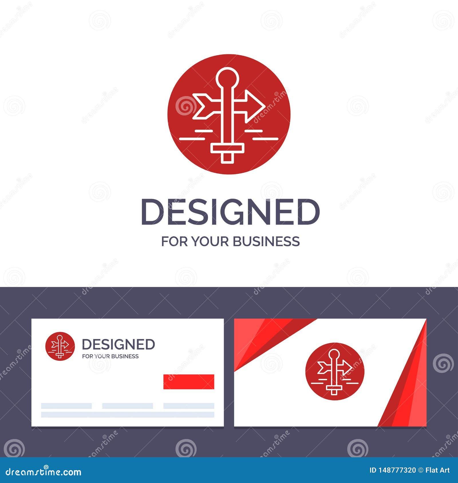 Η δημιουργικοί επαγγελματική κάρτα και ο πίνακας προτύπων λογότυπων, οδηγός, χάρτης, δείκτης χαρτών, ταξιδεύουν τη διανυσματική α