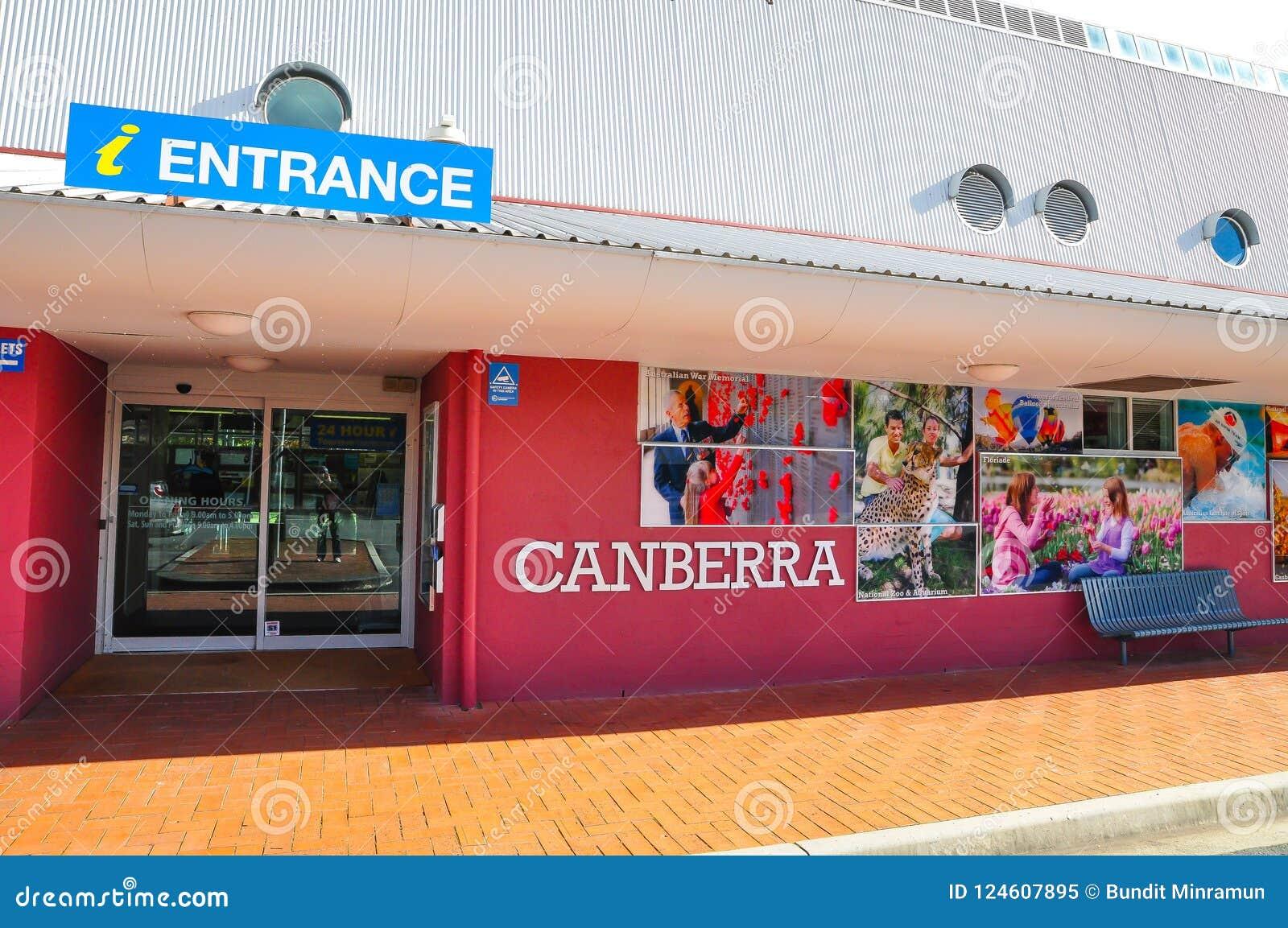 Η είσοδος του κέντρου πληροφόρησης τουριστών της Καμπέρρα