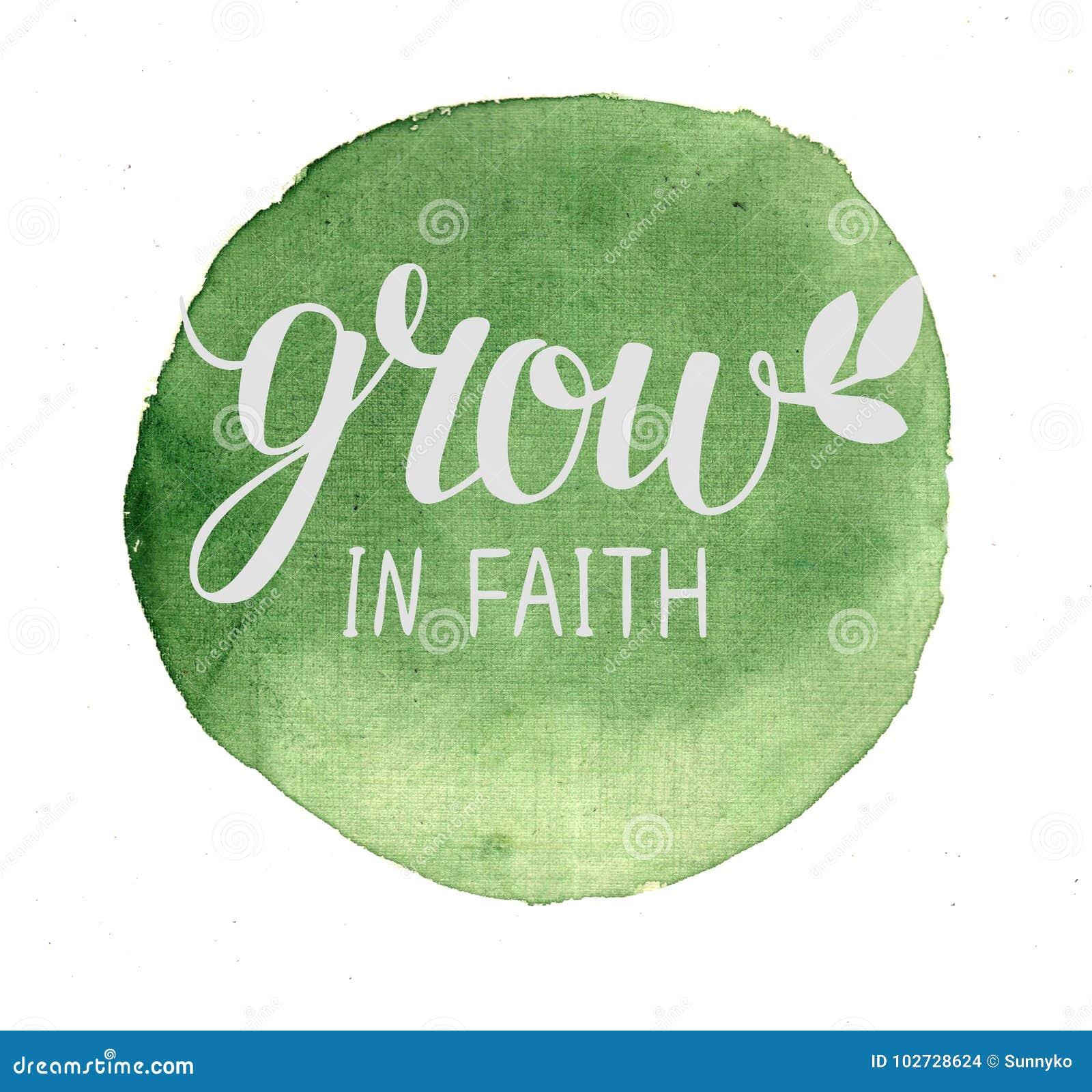 Η εγγραφή χεριών αυξάνεται στην πίστη, που γίνεται στο πράσινο υπόβαθρο watercolor