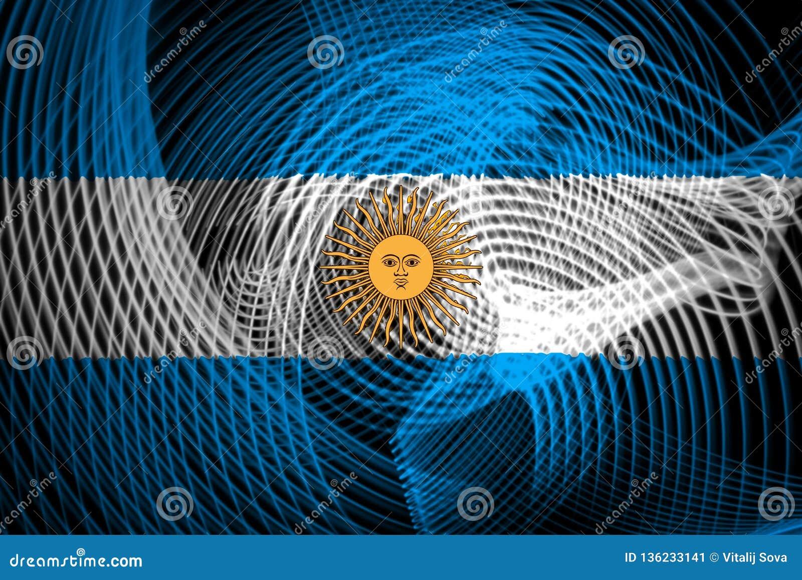 Η εθνική σημαία της Αργεντινής