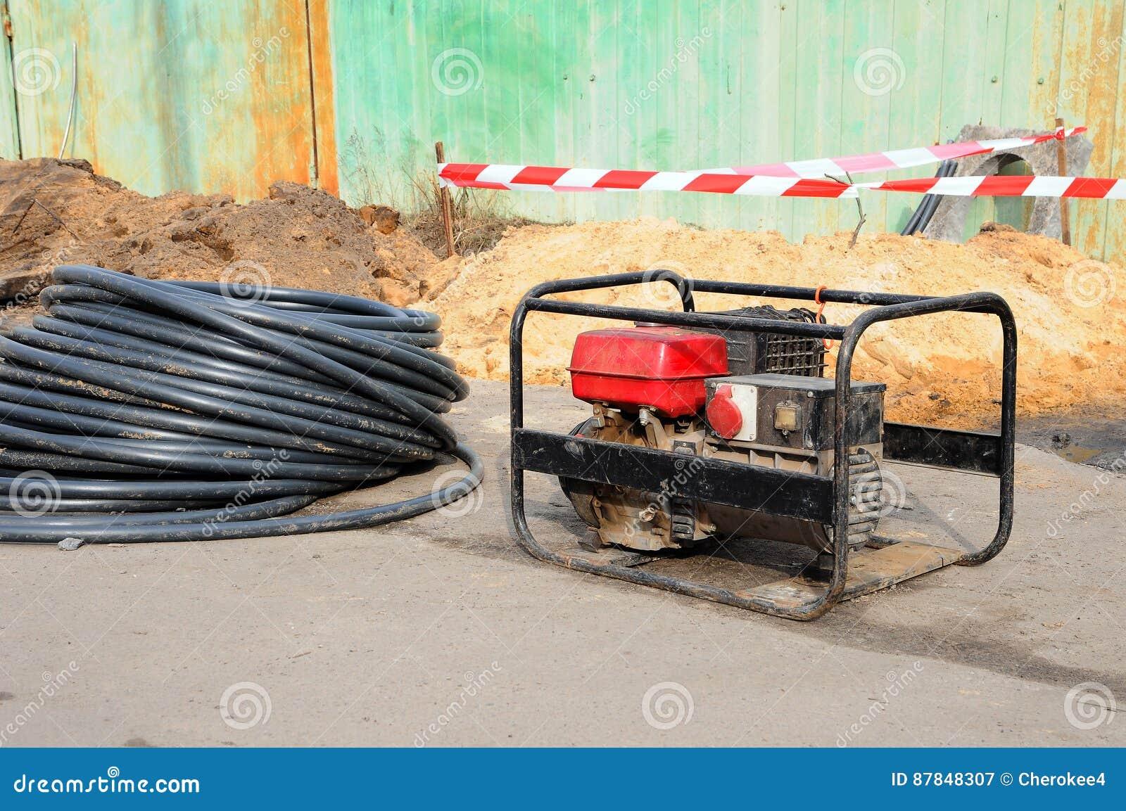 ηλεκτρική γεννήτρια κινητ Επισκευή της οδικής εργασίας
