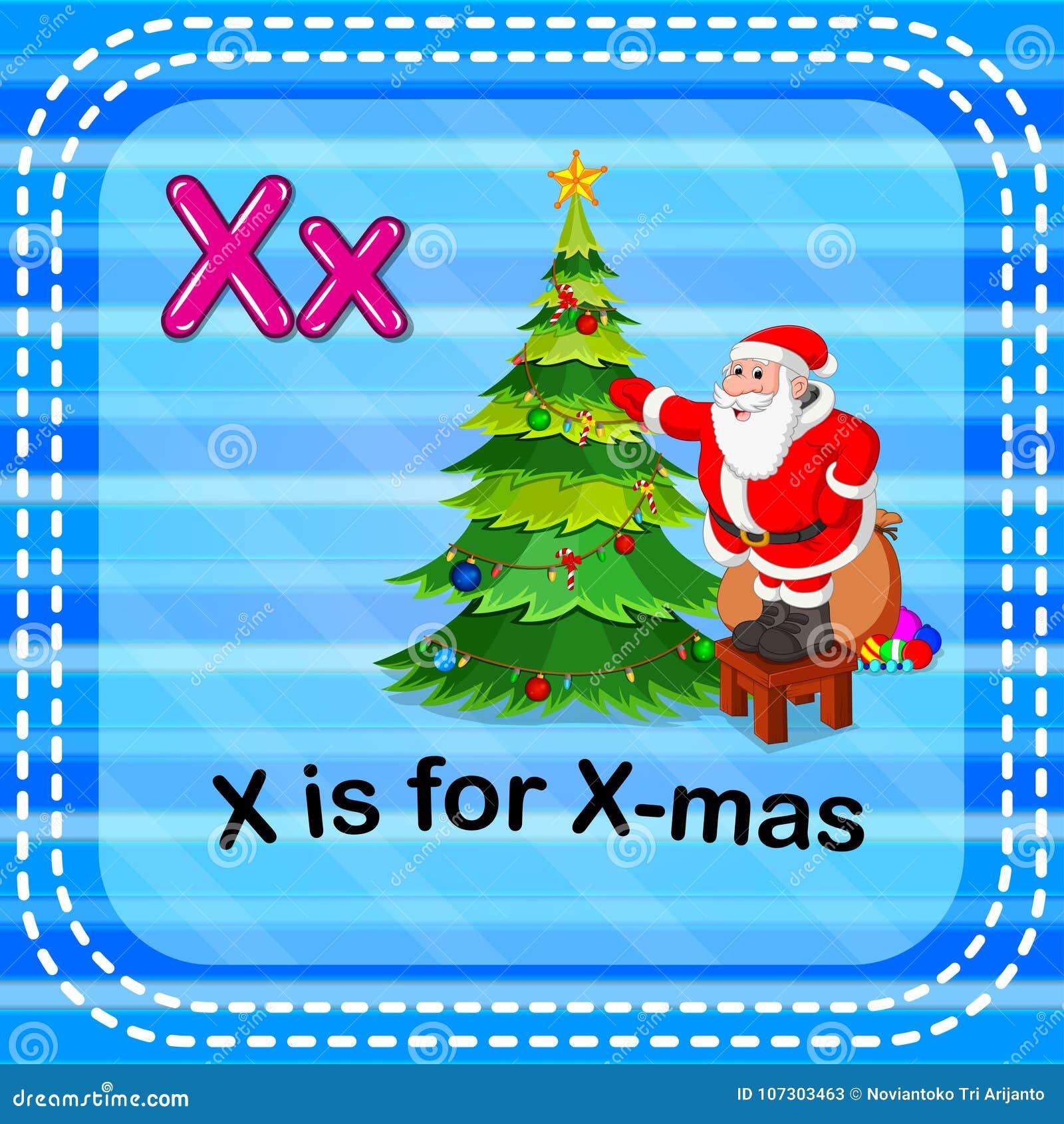 Η επιστολή Χ Flashcard είναι για τα Χριστούγεννα