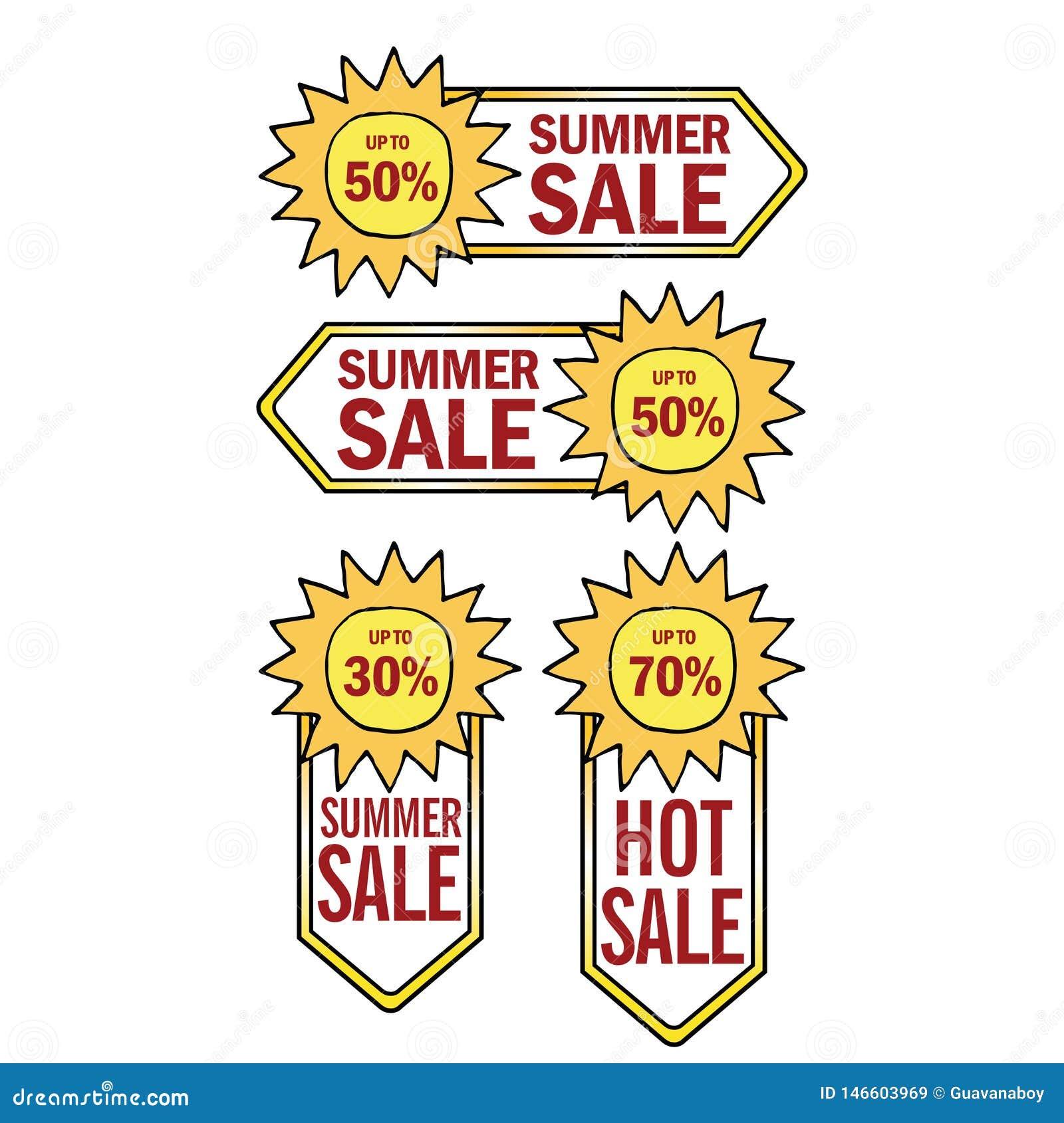 Η θερινή πώληση προετοιμάζει το έμβλημα προτύπων