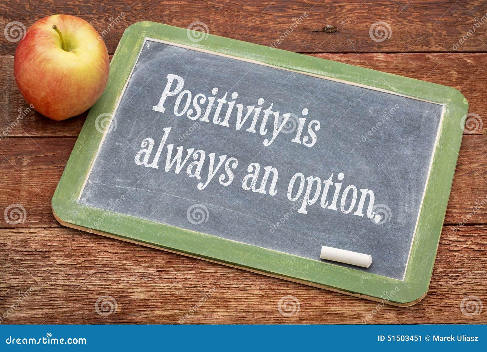Η θετική σκέψη είναι πάντα μια επιλογή
