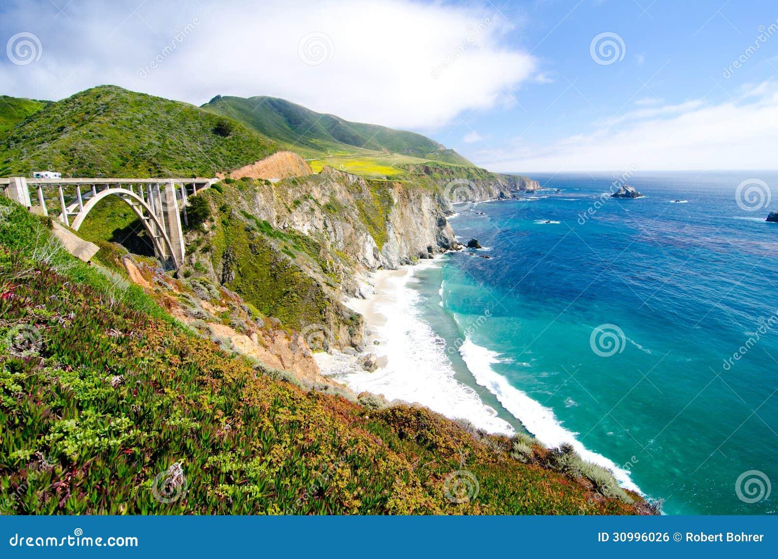 Η διάσημη γέφυρα Bixby στην κρατική διαδρομή 1 Καλιφόρνιας