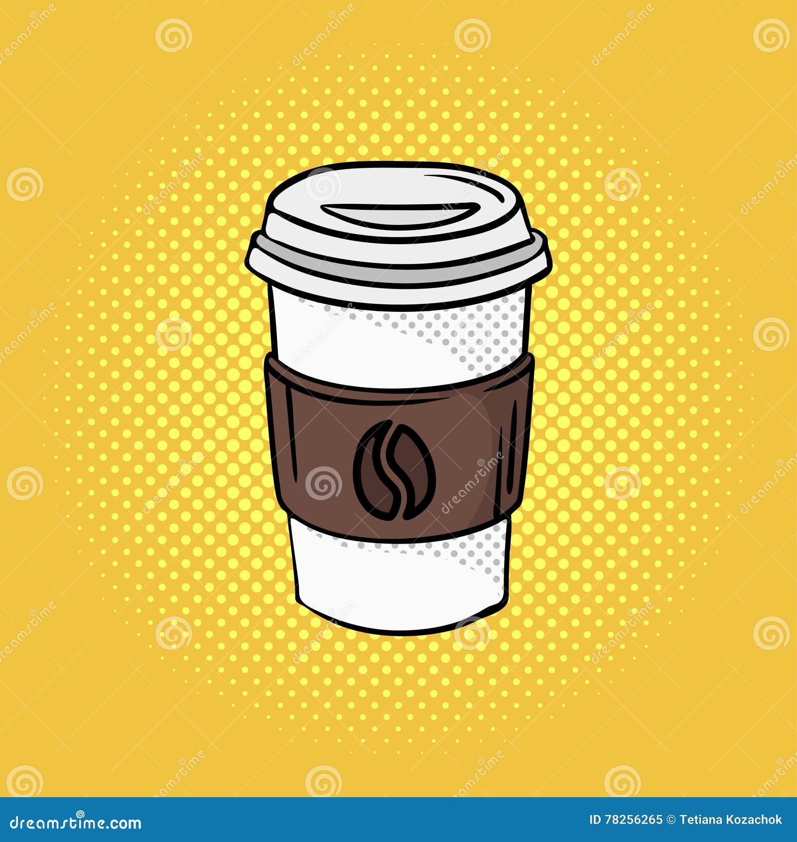 Η διανυσματική συρμένη χέρι λαϊκή απεικόνιση τέχνης του καφέ πηγαίνει