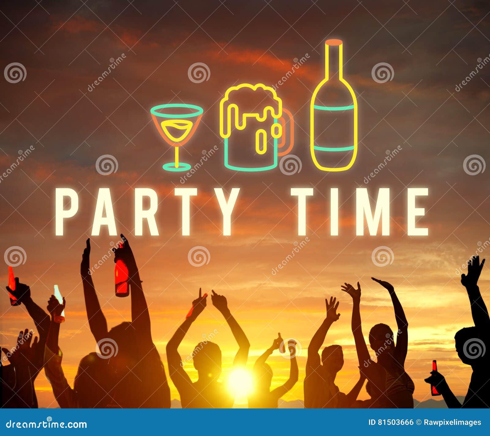 Η διασκέδαση ζωής νύχτας κόμματος απολαμβάνει την έννοια