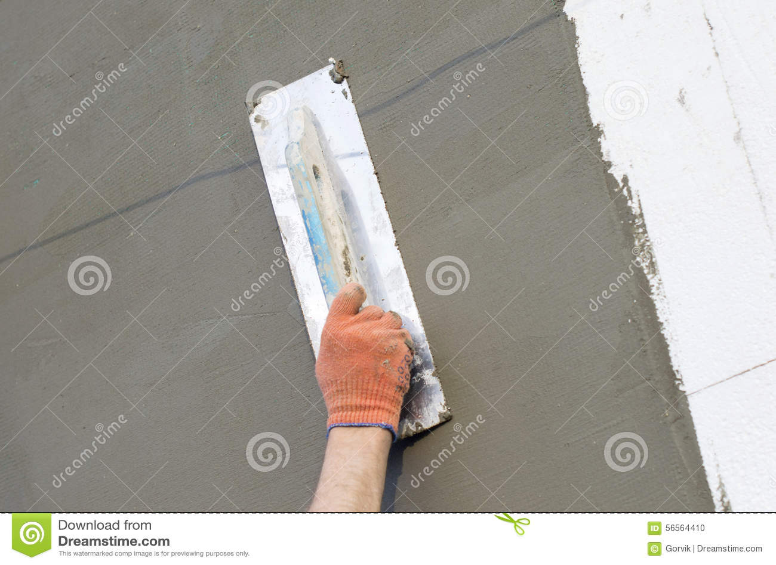 Download Η διαδικασία Putty στον τοίχο Polyfoam Στοκ Εικόνες - εικόνα από διαδικασία, κύριος: 56564410