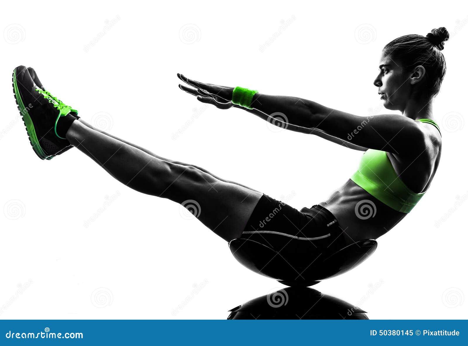 Η ικανότητα γυναικών κριτσανίζει τη σκιαγραφία ασκήσεων