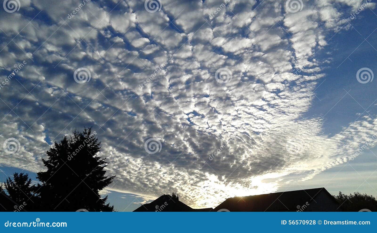 Ηλιοβασίλεμα και σύννεφα