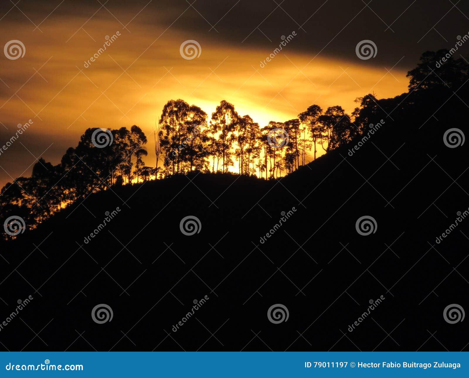 Ηλιοβασίλεμα στην Κολομβία
