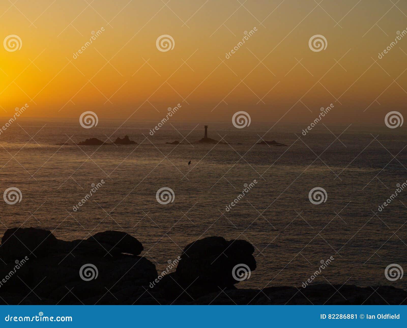 Ηλιοβασίλεμα στο ST Ives στην Κορνουάλλη
