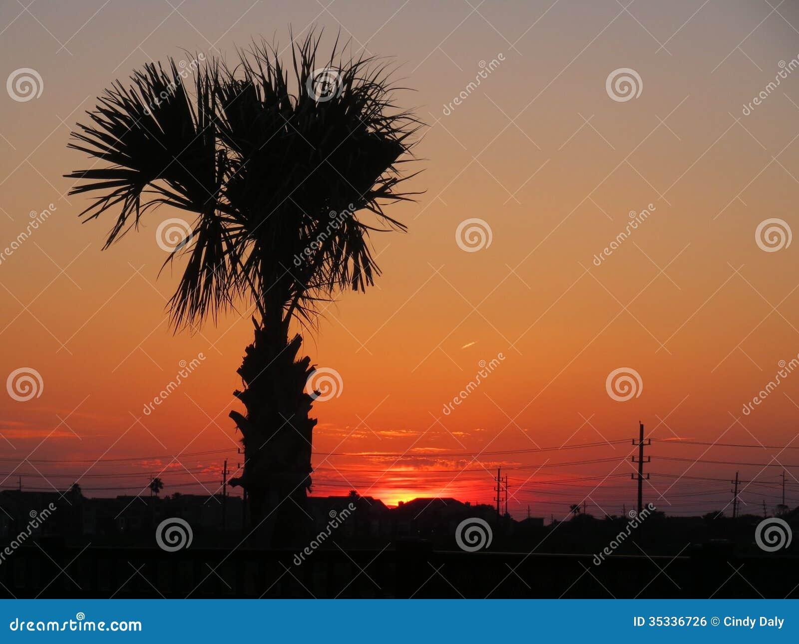 Ηλιοβασίλεμα Galveston.