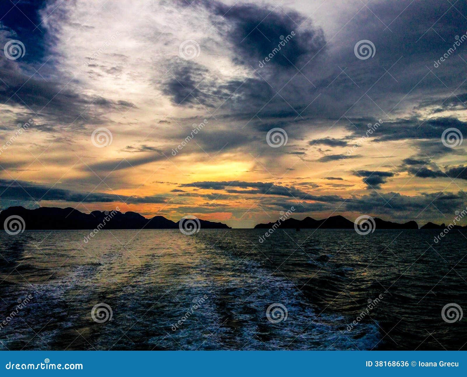 Ηλιοβασίλεμα Koh στο λουρί ANG