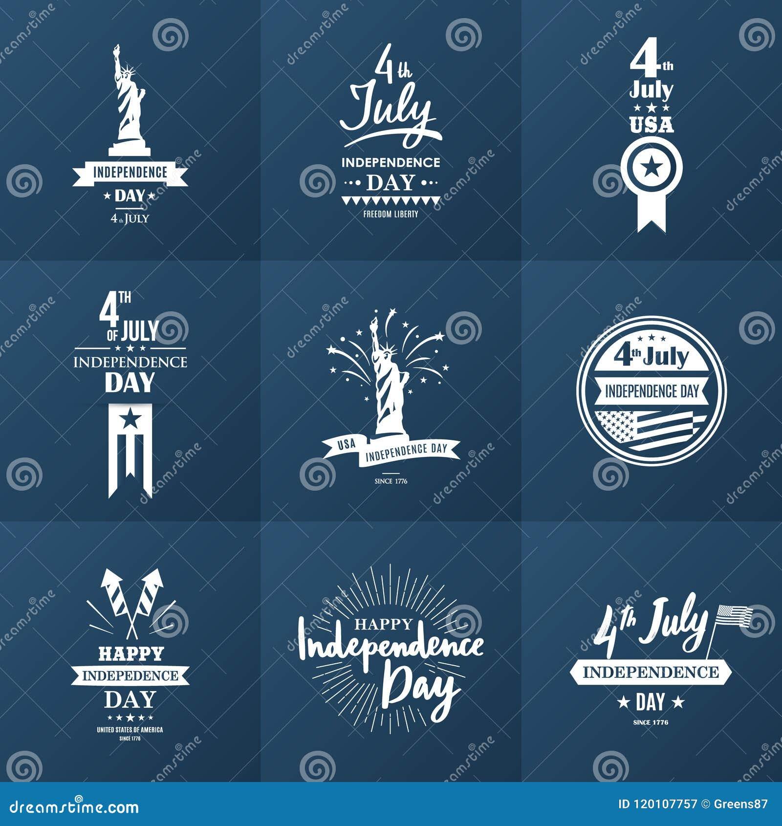 4η Ιουλίου Ένα σύνολο εννέα εκλεκτής ποιότητας ευχετήριων καρτών