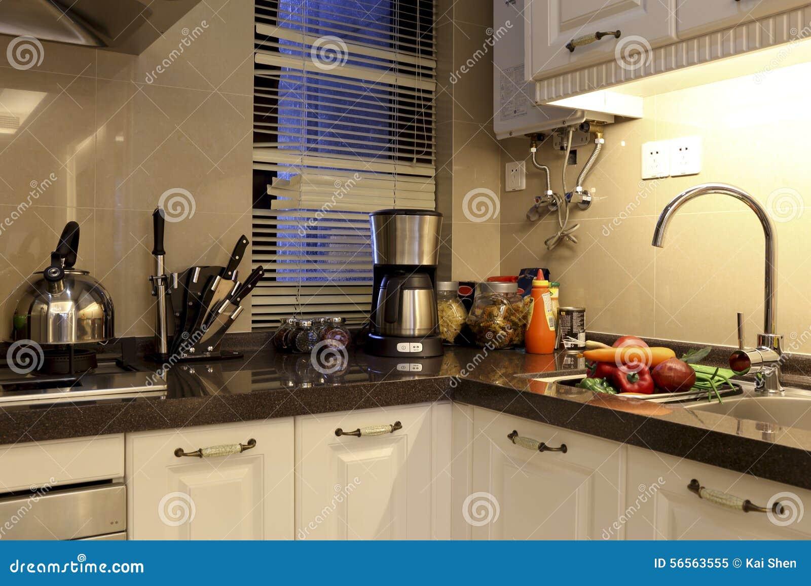 Download Η κουζίνα πολυσύνθετου στοκ εικόνα. εικόνα από εύκολος - 56563555