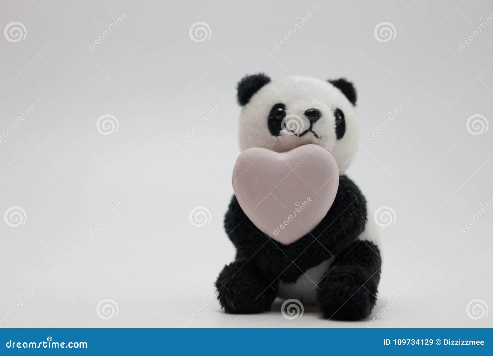 abdd02e241d3 Η κούκλα βελούδου της Panda γιορτάζει την ημέρα βαλεντίνων ` S Στοκ ...