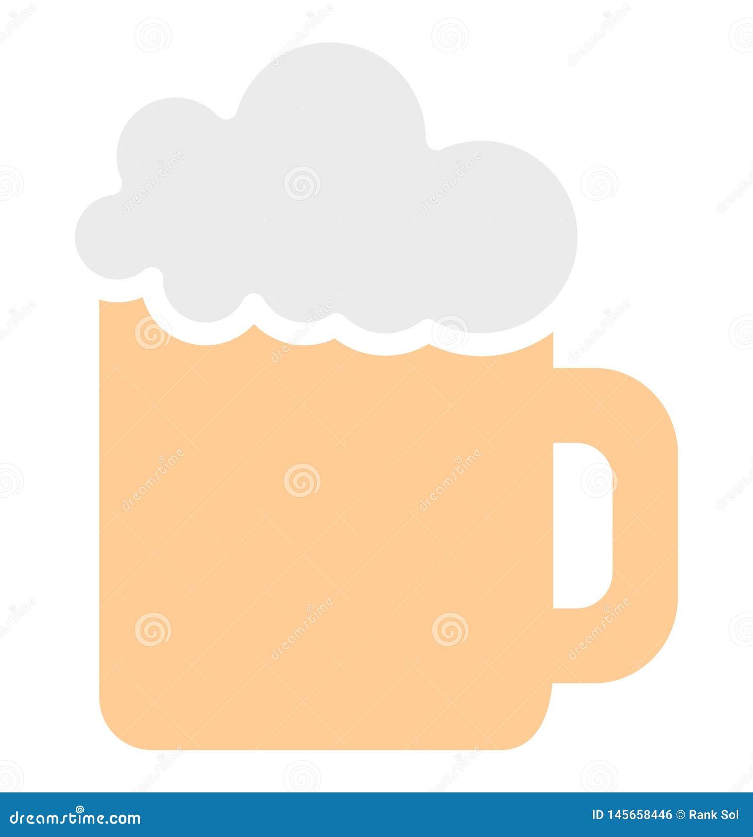 Η κούπα μπύρας απομόνωσε το διανυσματικό εικονίδιο που μπορεί εύκολα να τροποποιήσει ή να εκδώσει το απομονωμένο κούπα διανυσματι