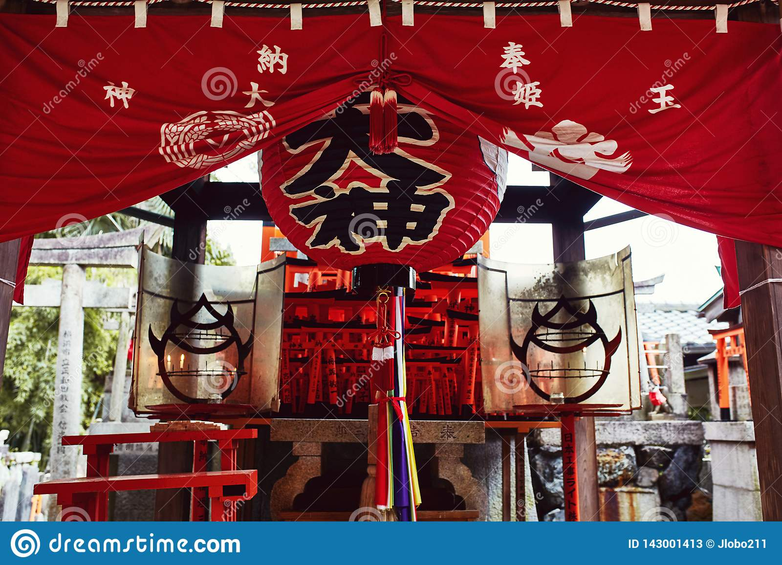 Η λάρνακα Inari Taisha Fushimi στο Κιότο, Ιαπωνία