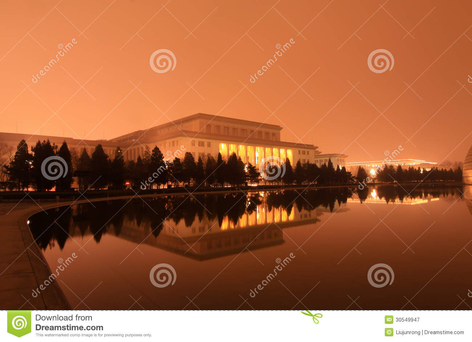 Η μεγάλη αίθουσα των ανθρώπων στη νύχτα, Πεκίνο