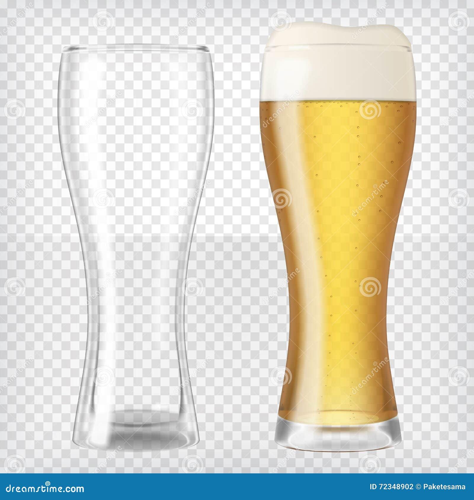 η μπύρα ήφρισε τα πλήρη γυαλιά ένα δύο γυαλιού επάνω