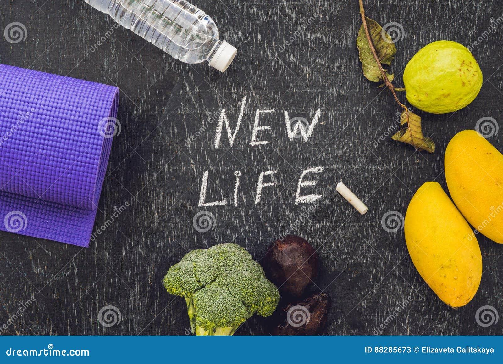 Η νέα ζωή γράφεται στον πίνακα κιμωλίας ζωή έννοιας νέα