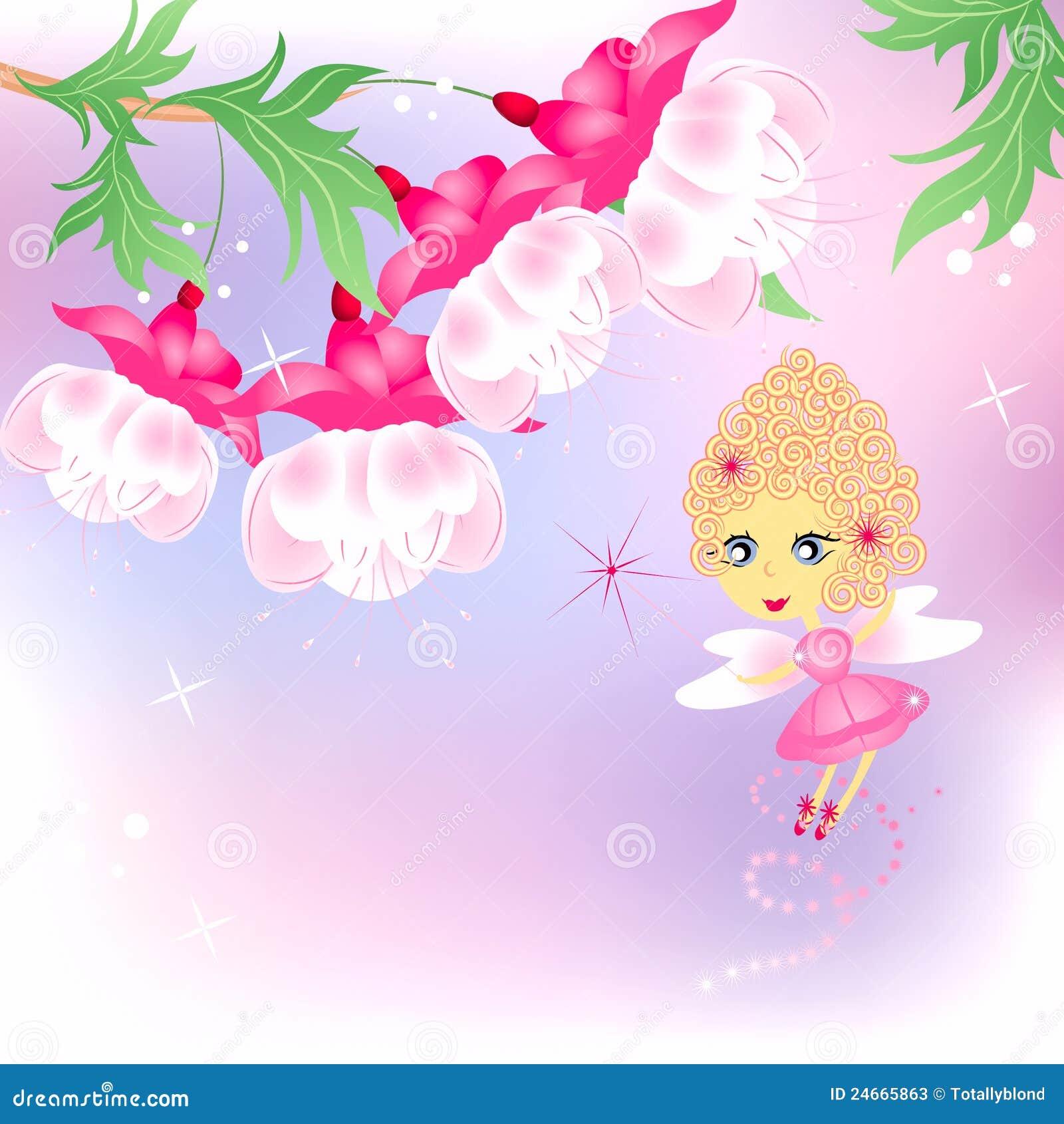 η νεράιδα ανθίζει το ροζ