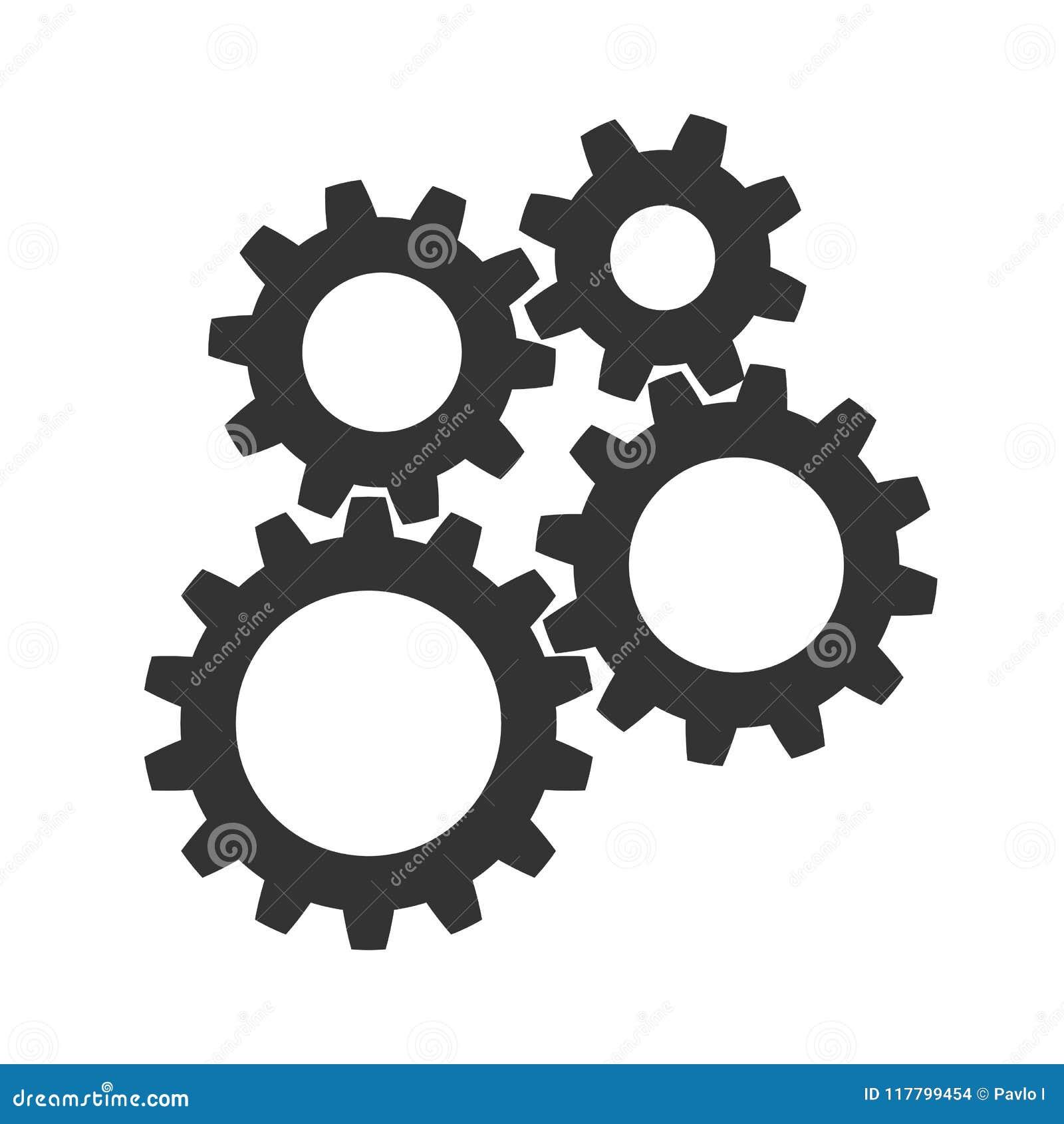 Η ομαδική εργασία, επιχειρησιακή επιτυχία έννοιας, χρωμάτισε την καθορισμένη απεικόνιση εικονιδίων εργαλείων - διάνυσμα