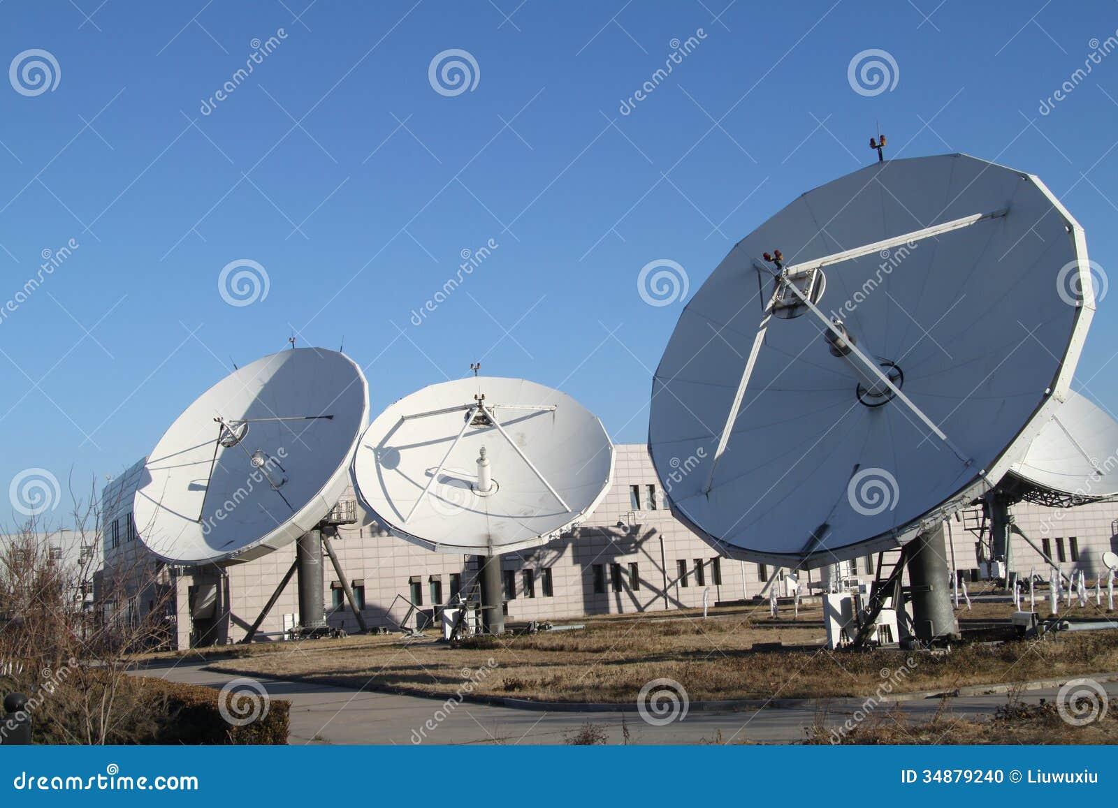 Η δορυφορική γη λαμβάνει το σταθμό στο Πεκίνο της Κίνας