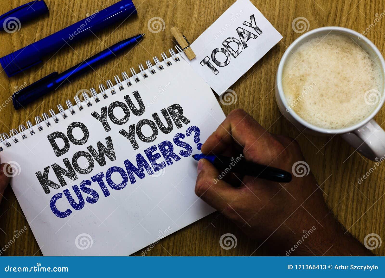 Η παρουσίαση σημαδιών κειμένων εσείς ξέρει την ερώτηση πελατών σας Εννοιολογική φωτογραφία που έχει ένα μεγάλο υπόβαθρο για το δε