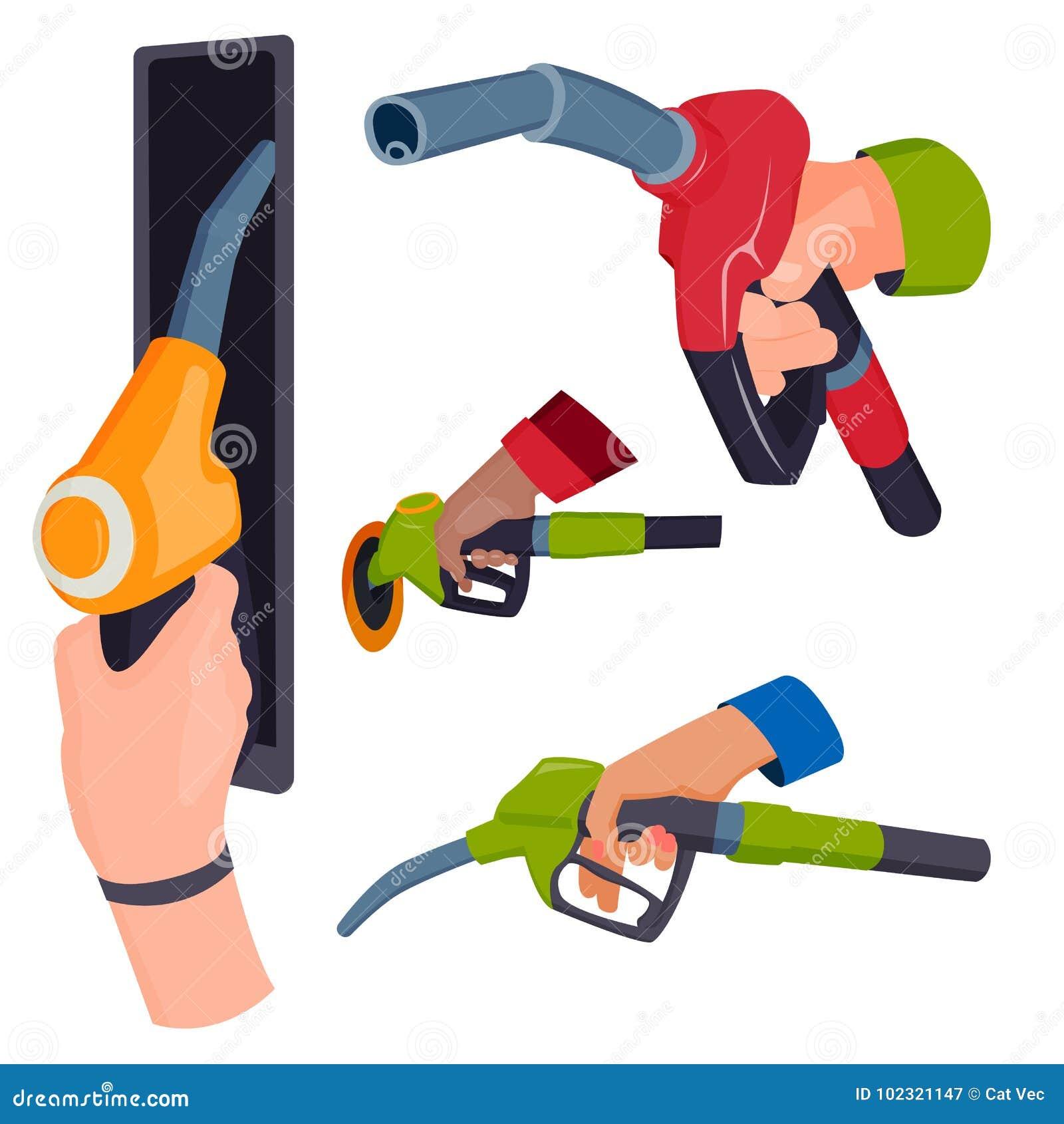 Η πλήρωση του πιστολιού σταθμών βενζίνης στους ανθρώπους δίνει στο ανεφοδιάζοντας σε καύσιμα εργαλείο υπηρεσιών δεξαμενών πετρελα