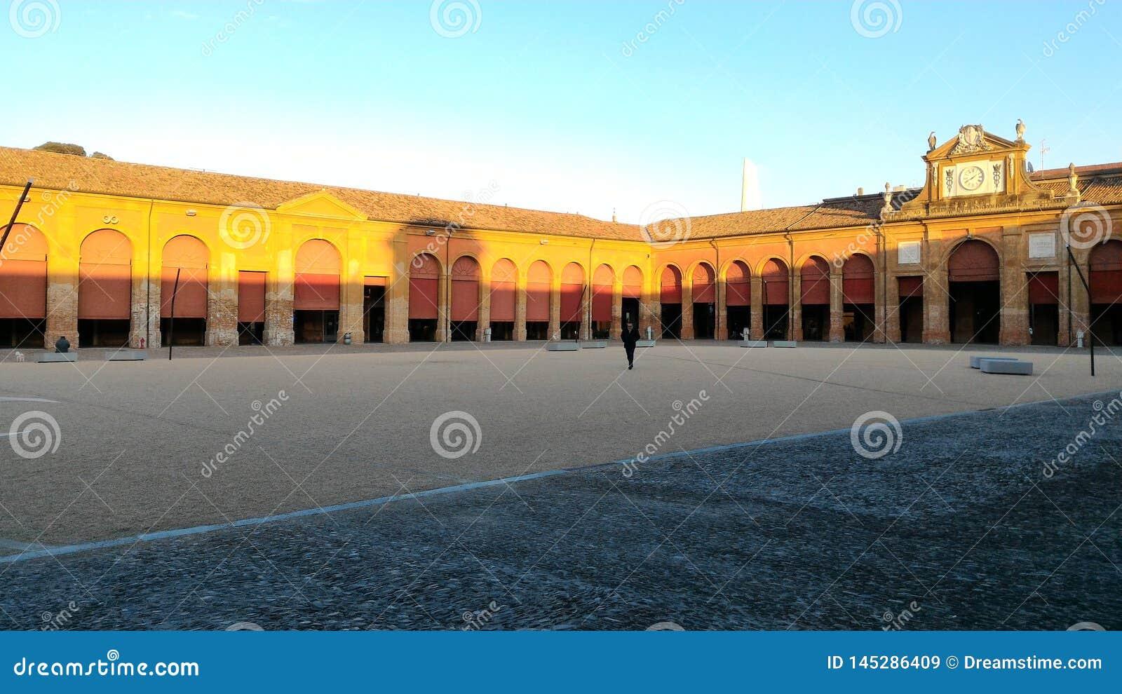 Η πλατεία της πόλης Lugo, Ιταλία