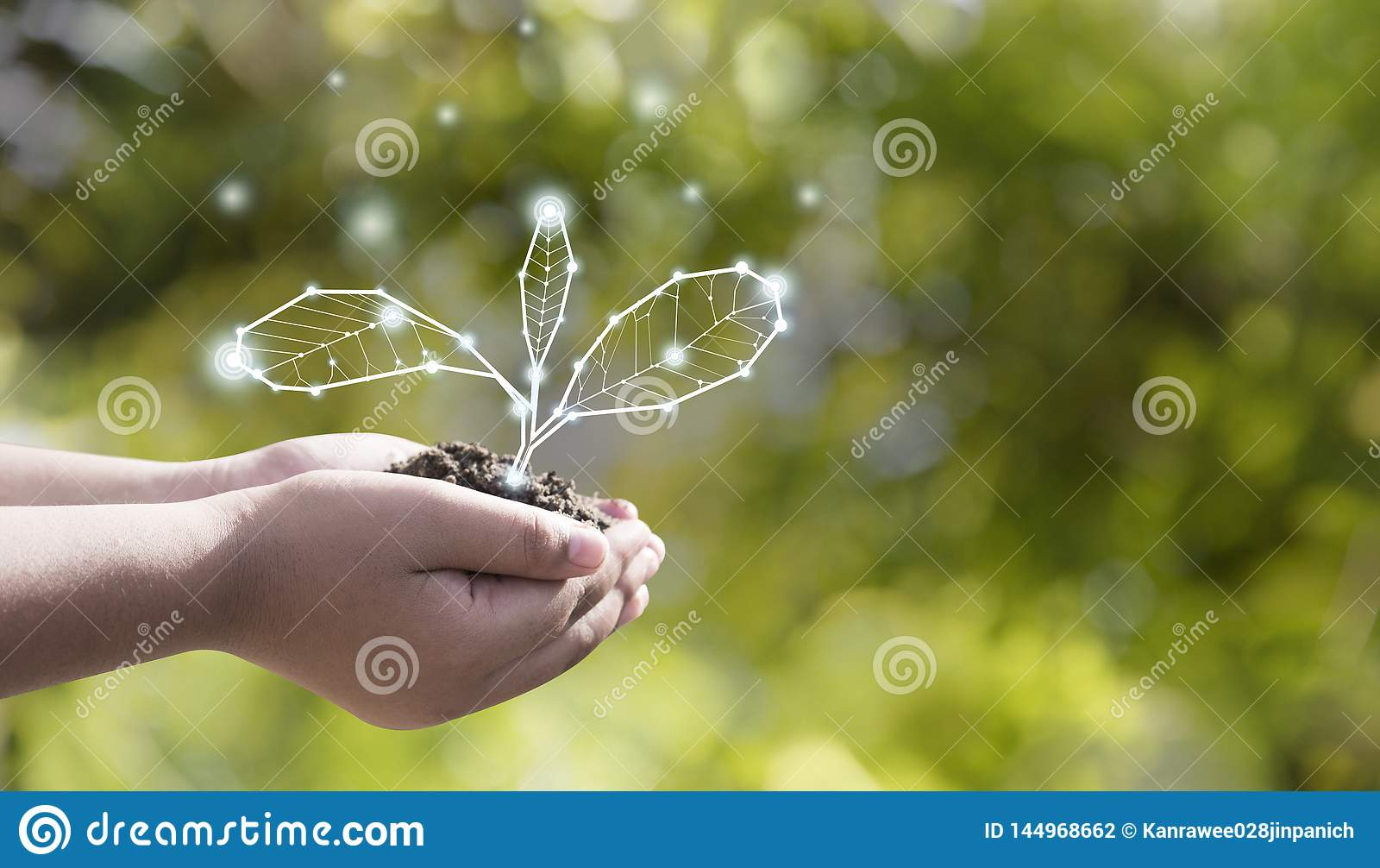 Η προστασία του περιβάλλοντος γήινης ημέρας είναι στα χέρια ενός δέντ