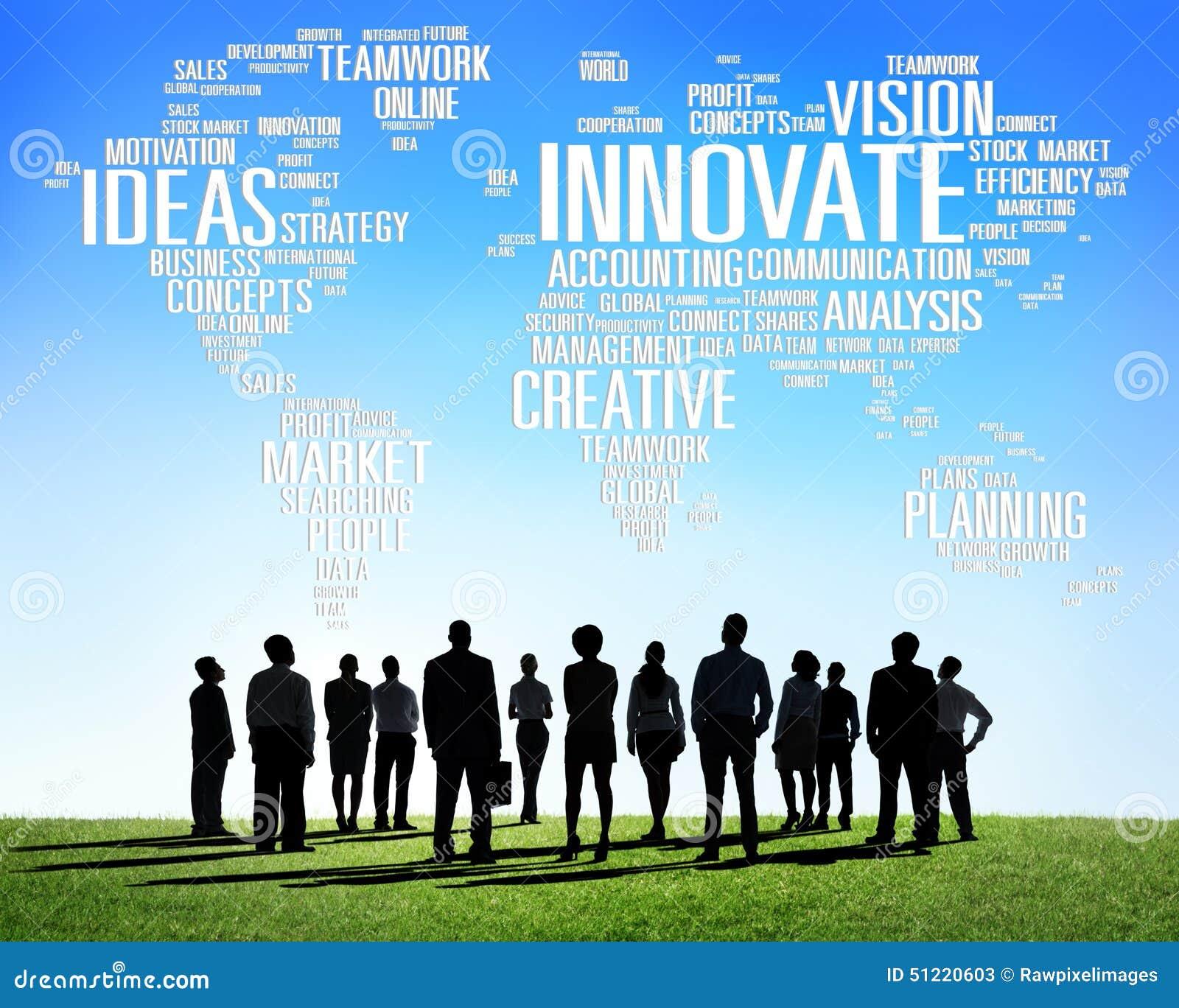 Η πρόοδος ιδεών δημιουργικότητας έμπνευσης καινοτομίας καινοτομεί