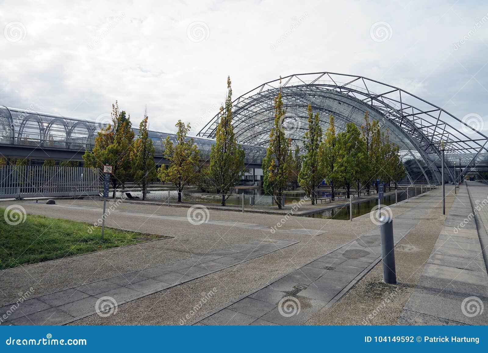 Η πόλη Stadt Λειψία Γερμανία Deutschland Messe εμπορικών εκθέσεων