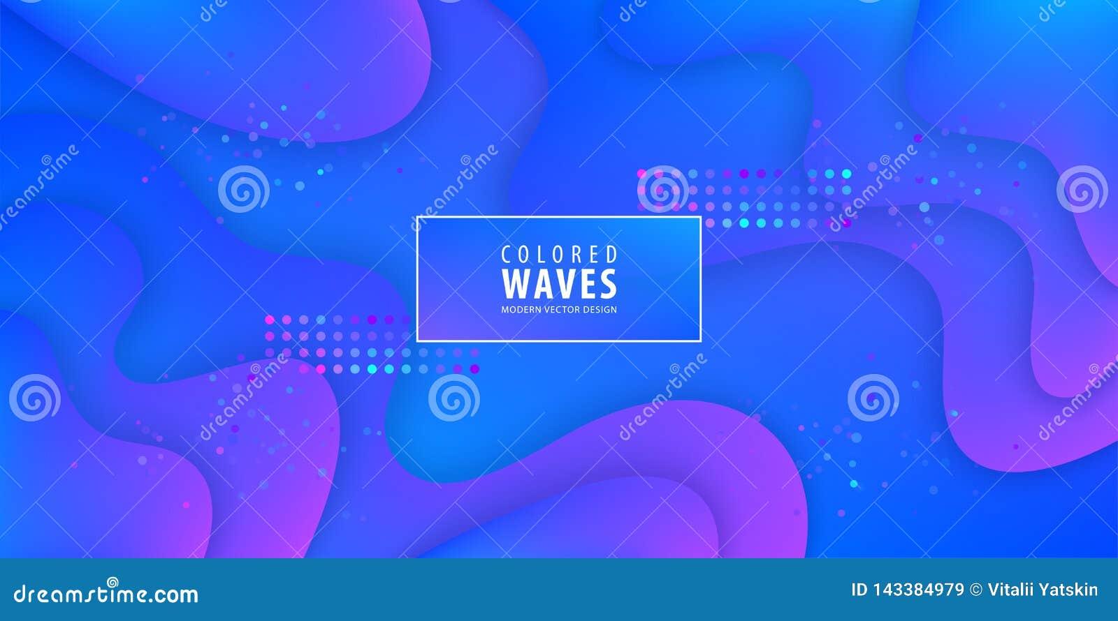 Η ρευστή κλίση διαμορφώνει τη σύνθεση Υγρό σχέδιο υποβάθρου χρώματος Αφίσες σχεδίου επίσης corel σύρετε το διάνυσμα απεικόνισης
