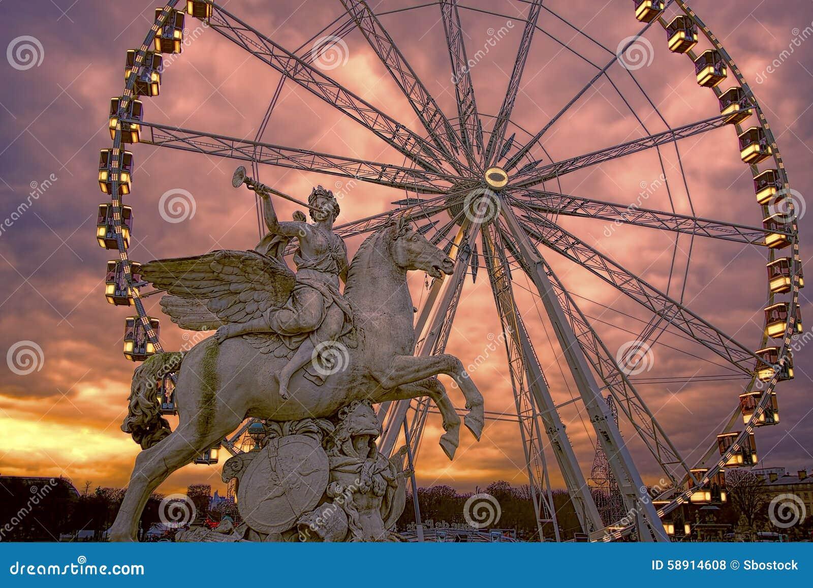 Η ρόδα Roue de Παρίσι Ferris, Παρίσι, Γαλλία