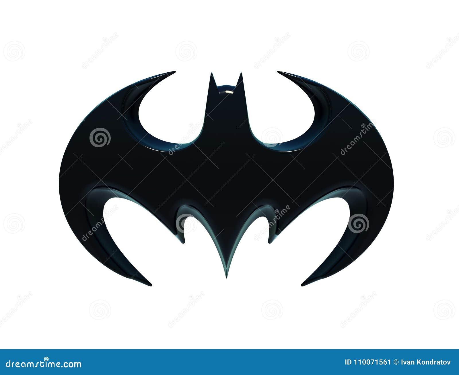 Η σκιαγραφία ενός ροπάλου, λογότυπο Batman