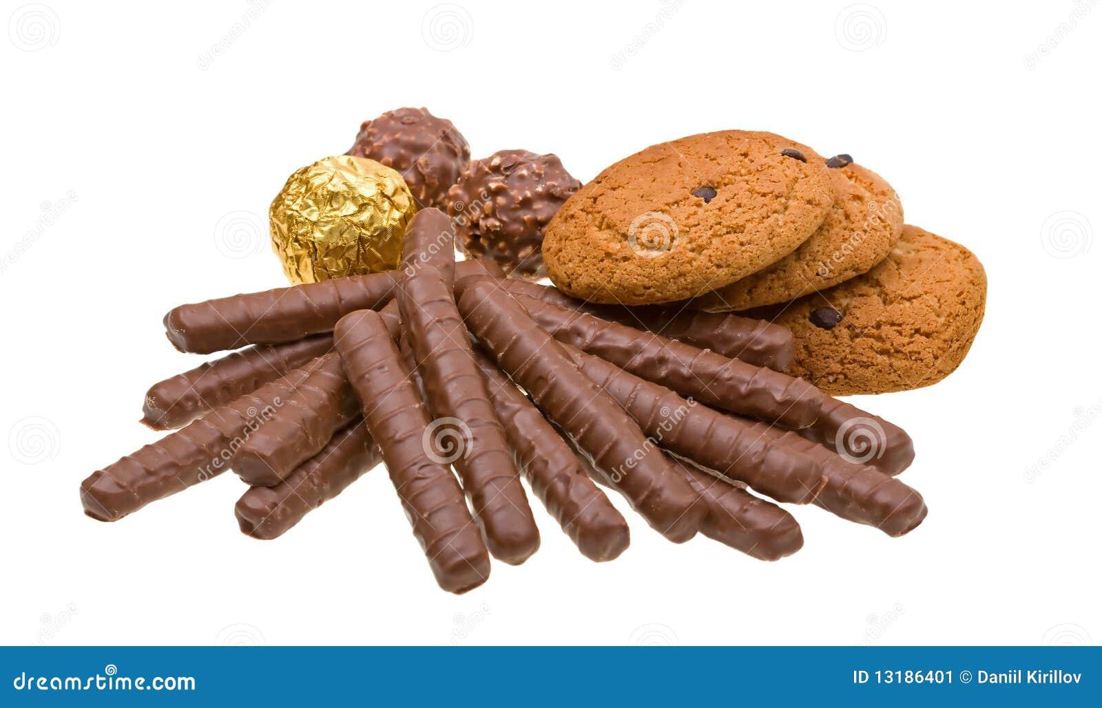 η σοκολάτα μπισκότων απομ